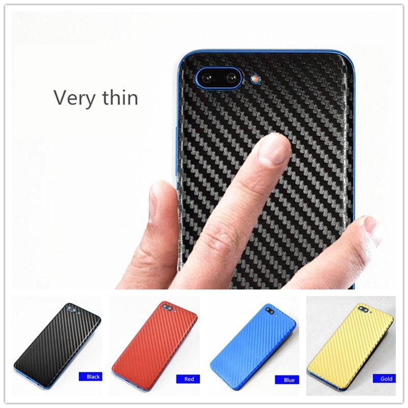 Adhesivo 3D de fibra de carbono para el cuerpo, pegatinas de piel para teléfono móvil, película de patrón de cuero para Huawei Honor 10, funda protectora, pegatina trasera, piel
