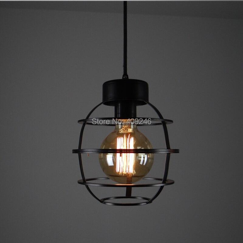 LOFT Edison Industrial Pendant Black Metal Circle Droplight