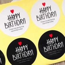 80 unids/lote de adhesivos para regalo de feliz cumpleaños para ti y pastel, Serie de múltiples estilos, sello adhesivo para hornear