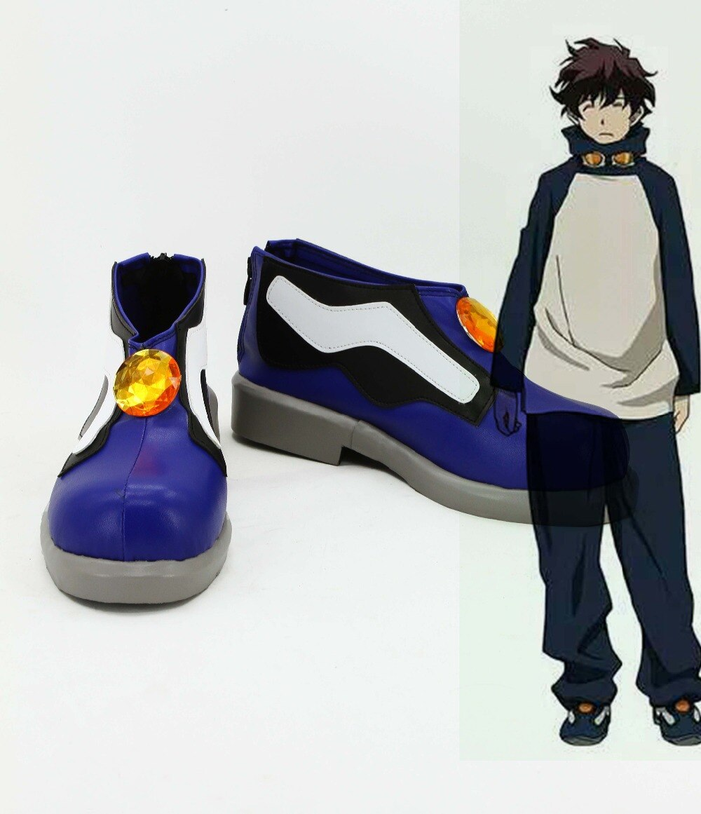 Anime Kekkai Sensen Leonardo Watch Cosplay boots shoes custom-made