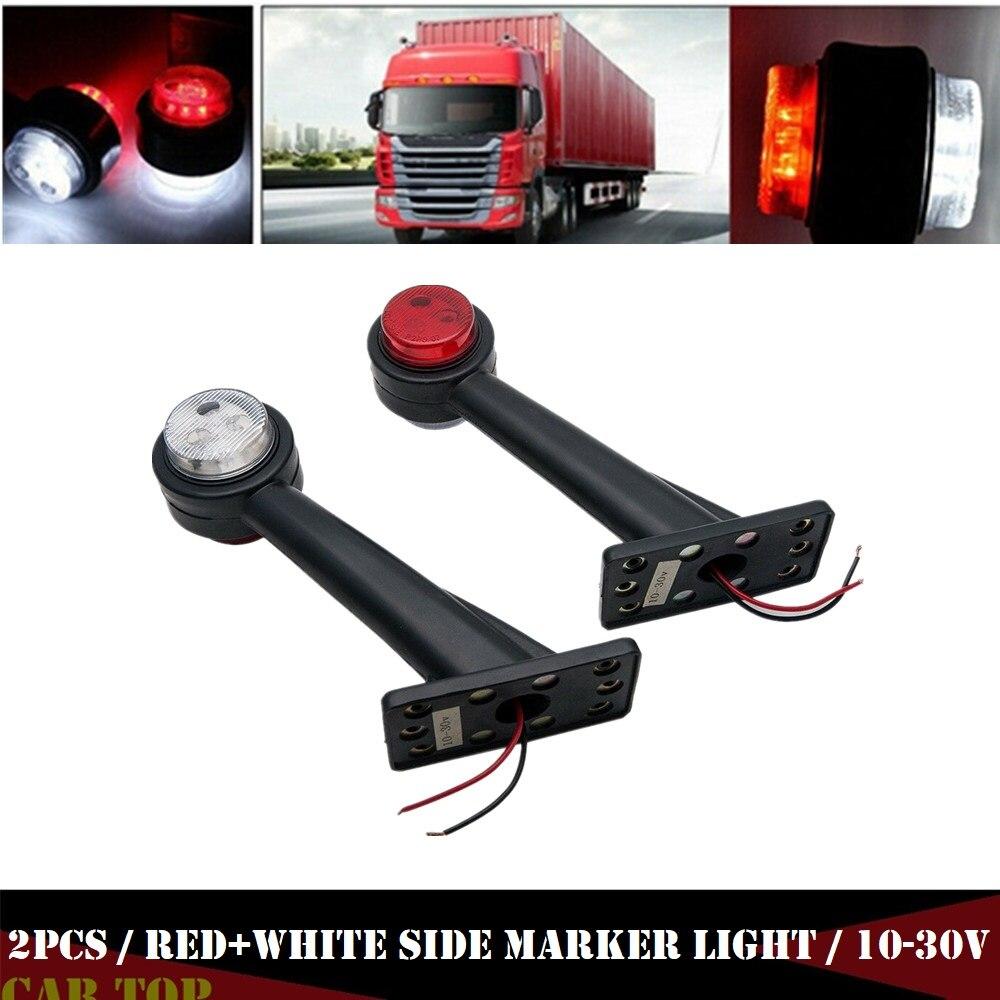 2 uds indicador lateral de camión luces 12v luces LED para remolques marcador de separación de lámpara lateral luces Luz de marcador lateral LED para camión