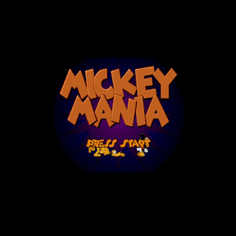 Mickey Mania NTSC Version 16 Bit 46 Pin Big Gray Game Card For USA Game Players