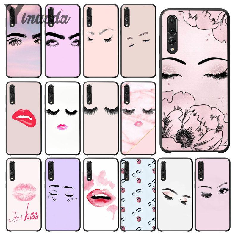 Funda de maquillaje de pestañas Yinuoda para teléfono móvil Huawei Mate9 10 Mate10 Lite P9 P10 Plus P20 Pro Honor10 View10 teléfonos móviles