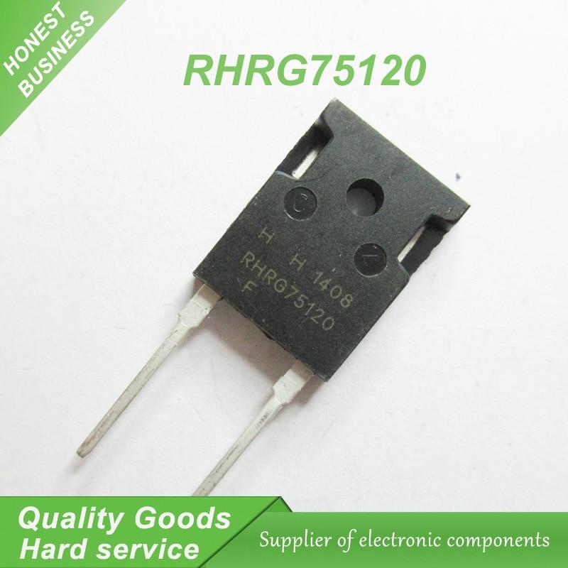 5 pçs/lote RHRG75120 TO-247-2 75A1200V ultrafast soft diodo da recuperaã novo original