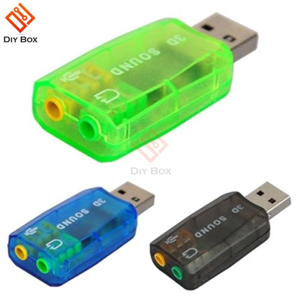 CM108 Chipset USB 2,0 a 3D AUDIO adaptador de sonido Tarjeta VIRTUAL 5,1 CH pista de sonido
