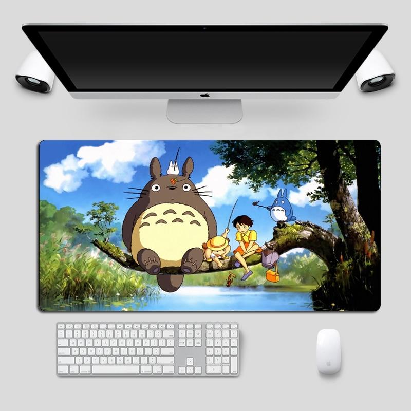 Cute Totoro Anime Mouse pad Large 60x30cm Soft Rubber Locking Edge Gaming Mousepad Cartoon Computer Gamer Keyboard Desk Mat