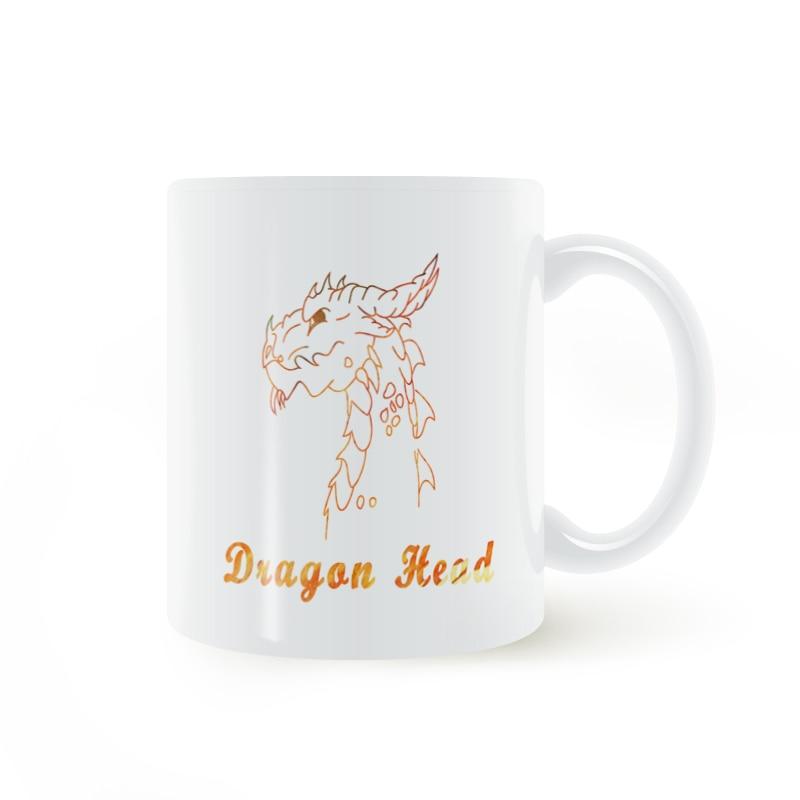 Taza de cabeza de dragón café leche cerámica creativa DIY regalos decoración del hogar tazas 11 oz T220