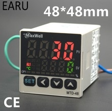 48*48mm contrôleur de température numérique contrôle AC85-265V puissance Thermocouple universel K J PT100 entrée SSR + relais/sortie 4-20mA