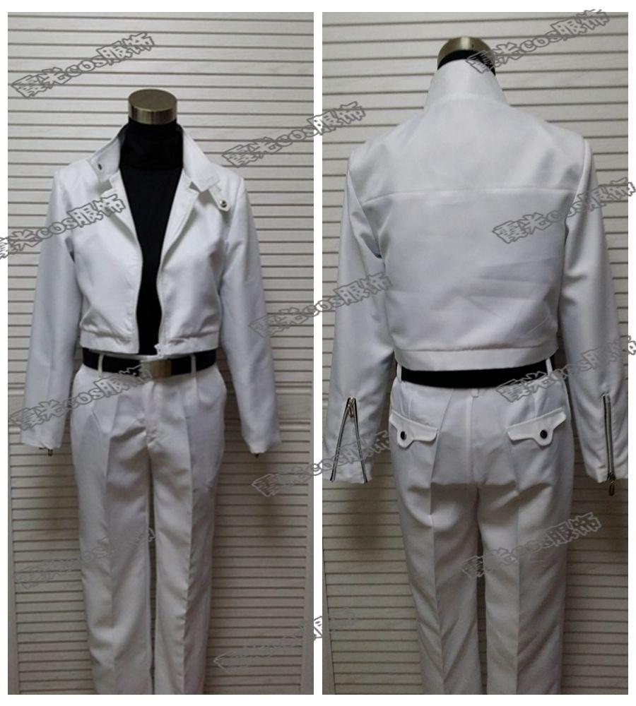 Japonês descida quente anime kekkai sensen cosplay zapp renfro cos festa de halloween unissex conjunto (casaco + camisa + calças não cinto)