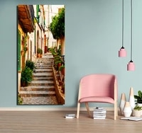 landscape painting poster paint coloring on canvas painting wall paint for living room fa381