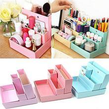 Boîte de rangement de bureau de haute qualité, nouveau porte-papeterie, boîte de rangement en papier pour bricolage, boîte de rangement pour le maquillage, organisateur de cosmétiques, nouveau porte-stylo