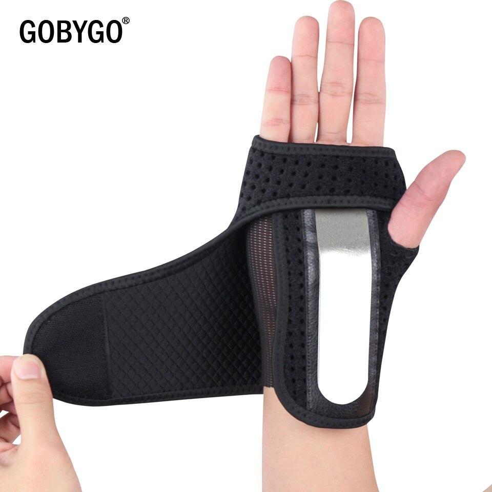 GOBYGO 1 pièces attelle utile entorses arthrite bande ceinture carpien Tunnel main poignet soutien orthèse solide noir