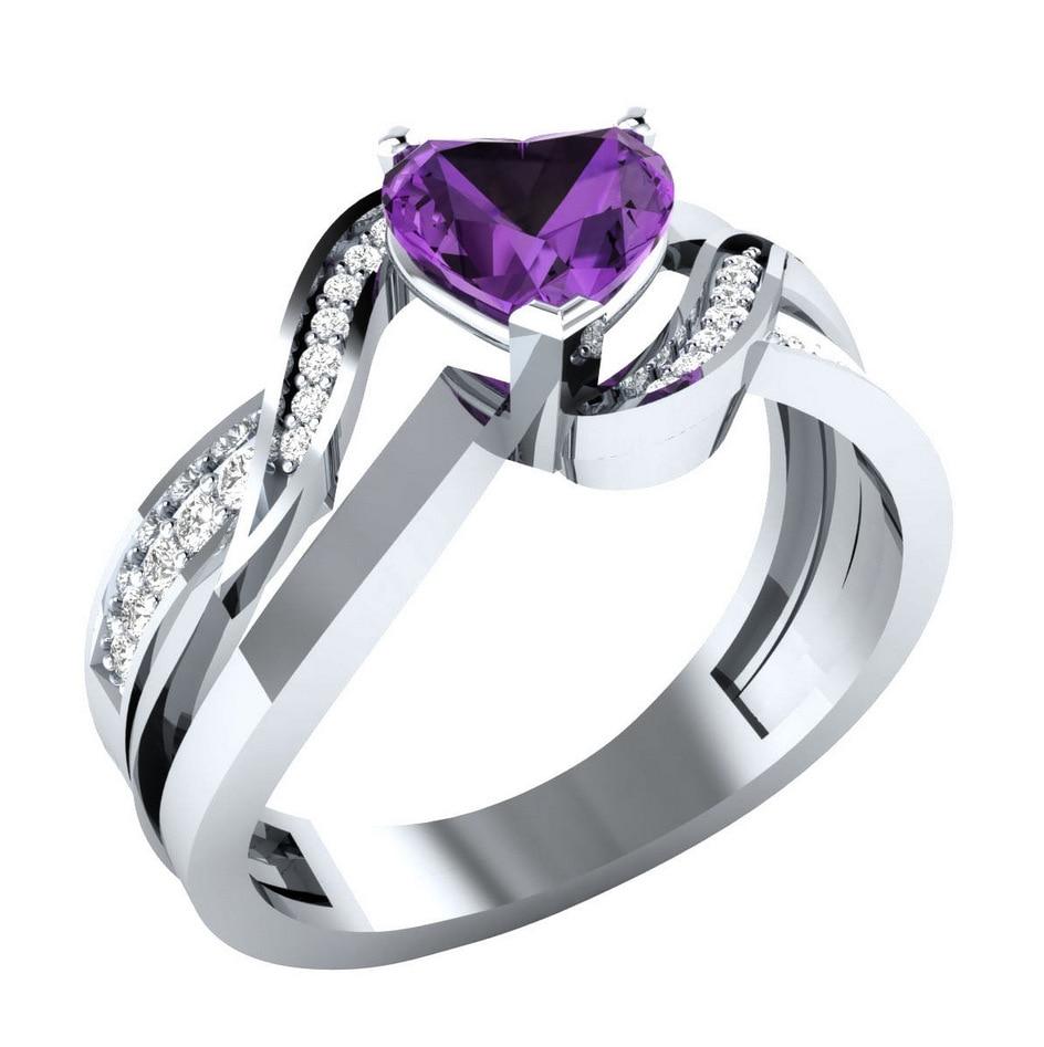 Anillo Único Huitan con forma de corazón para mujer, anillo de amor eterno de moda con bonita forma de corazón, anillo romántico con ajuste de punta de piedra clara
