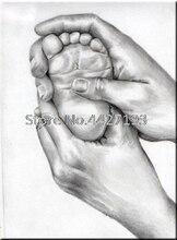 Mother love baby foot Pattern Diy Diamond Painting Cross Stitch Full Diamond Embroidery Mosaic Kits Wall Stickers