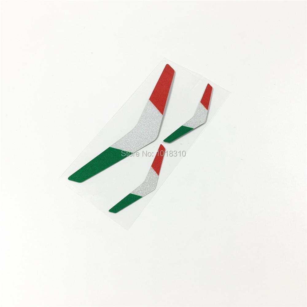 Car Styling 3pcs/lot Italy Flag Vespa Motorcycle Bike Helmet Car Sticker Decal Vinyl Reflective