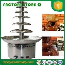 Sept couches 304 acier inoxydable utilisation commerciale chocolat fontaine Fondue fusion Choco arbre Machine