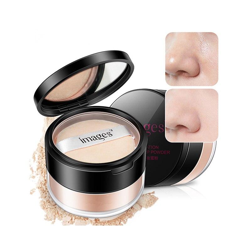 Polvo de maquillaje suelto con control de aceite, polvo de ajuste translúcido, polvo prensado blanco Natural, polvo con soplo a prueba de agua, polvo suelto