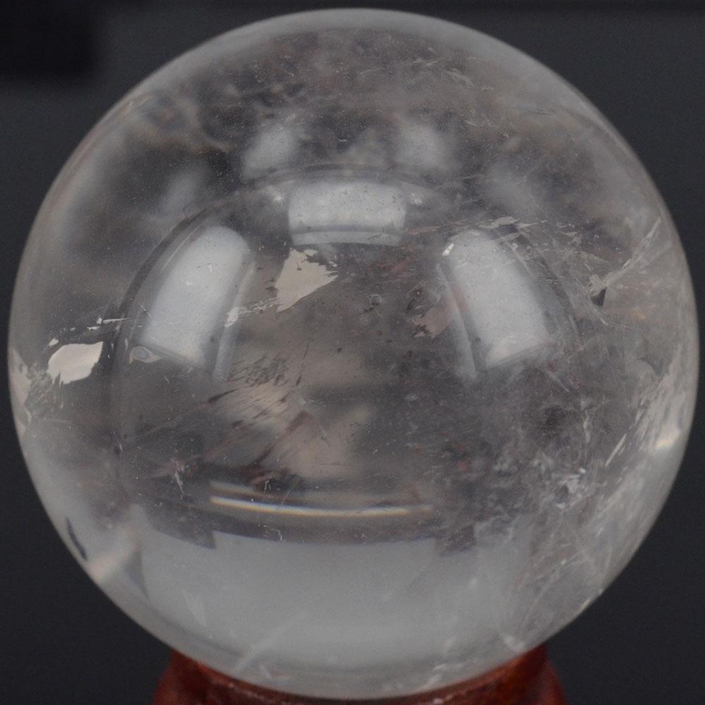 60 мм натуральный драгоценный камень, прозрачный кварцовый кристаллический шар, шар из чакры, лечебный камень «райки», резные поделки с подс...