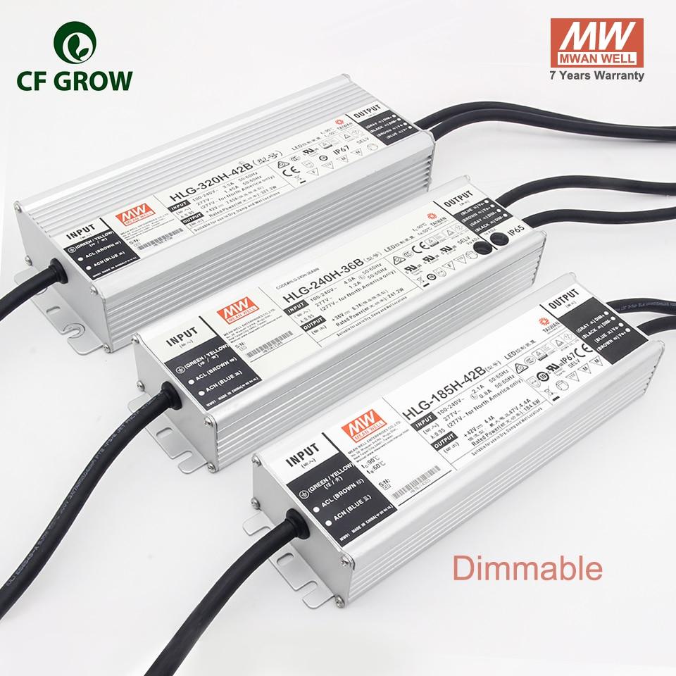 Meanwell Dimmbare 185W 240W 320W Fahrer HLG-185H-42B HLG-240H-36B, HLG-320H-42B LPC-60-1400, APV-12-12 Ausgang LED Power Adapter