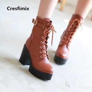 botas femininas women casual high quality long boots lady cute autumn & winter black pu leather boots female cool shoes e2292