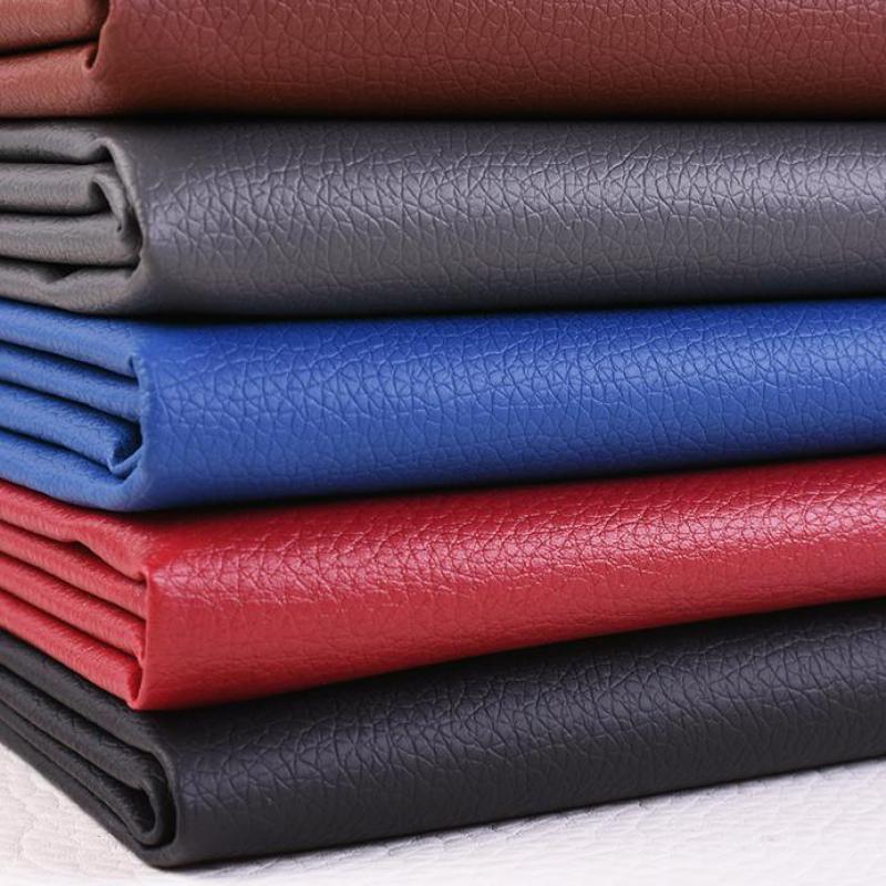 Tela de vinilo de cuero sintético para decoración, Material de 150cm de...