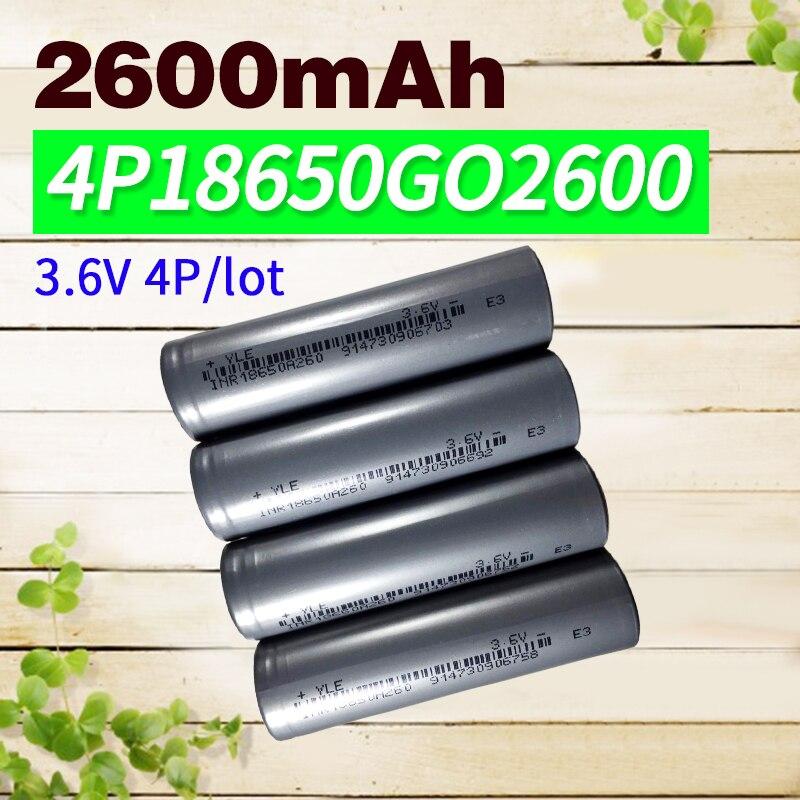 4 unids/lote 3,6 v 18650 batería recargable Animal 2600mAh li-ion para batería de portátil powerbank
