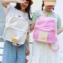Mochila Cute Clear Transparent Women Backpacks PVC Jelly Preppy Style Student SchoolBag For Teenage Girls Kawaii Itabag Rucksack