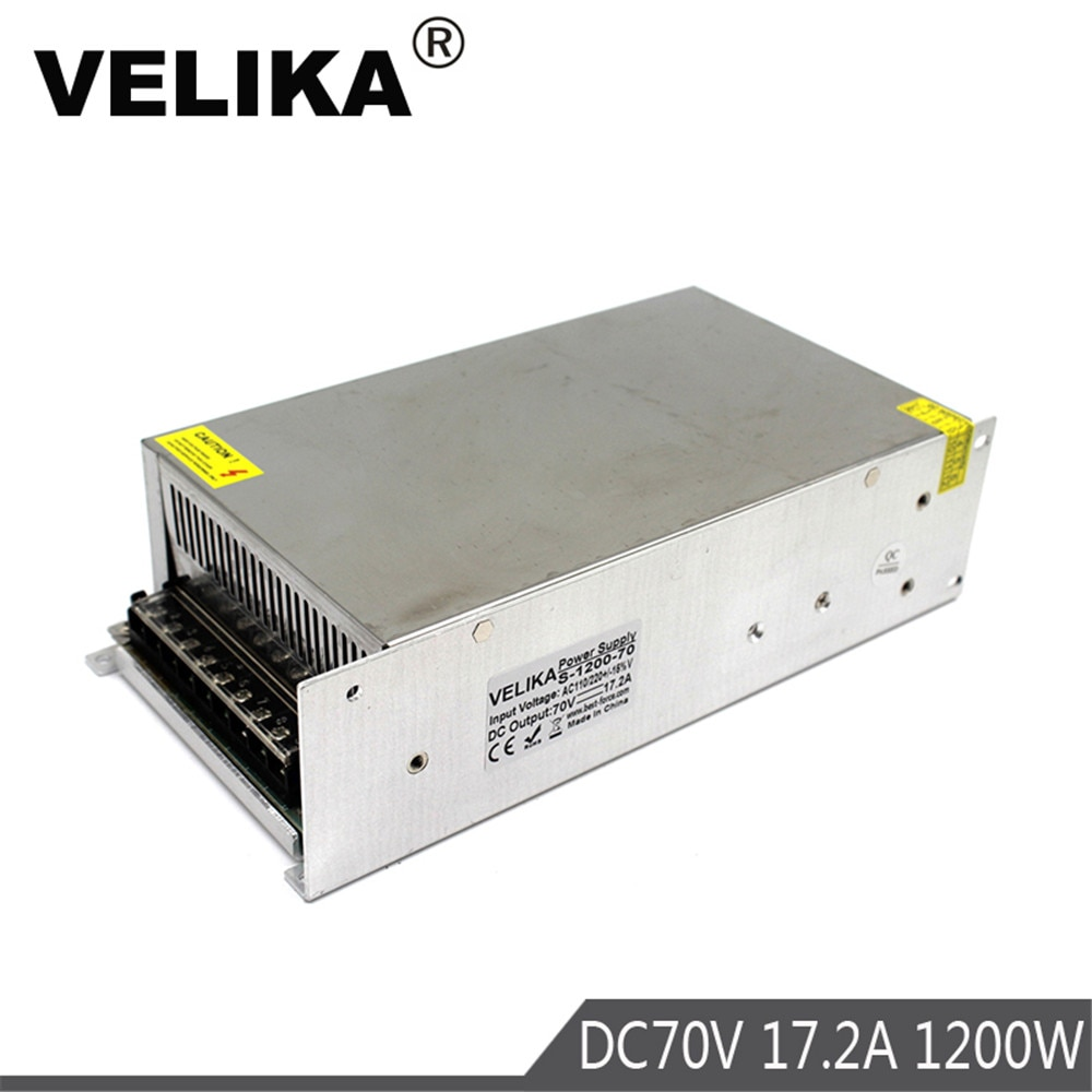 Fuente de alimentación conmutada de salida única 1200W 70V 17.2A transformador 110V 220V CA a DC70V SMPS para equipos mecánicos industriales