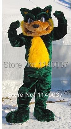 mascot Green Cat mascot costume custom fancy costume anime cosplay kits mascotte theme fancy dress carnival costume
