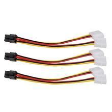 3Pcs 4pin zu 6pin Power Linie ide zu PCI Express Video Karte Pci-e ATX Netzteil Konverter Kabel Dual molex zu Pcie 6pin Adapter