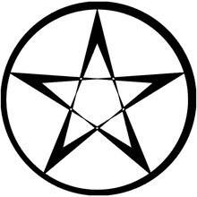 14,1 cm * 14,1 cm pentagrama Wicca estrella Calcomanía para auto, motocicleta negro/plata S3-5191