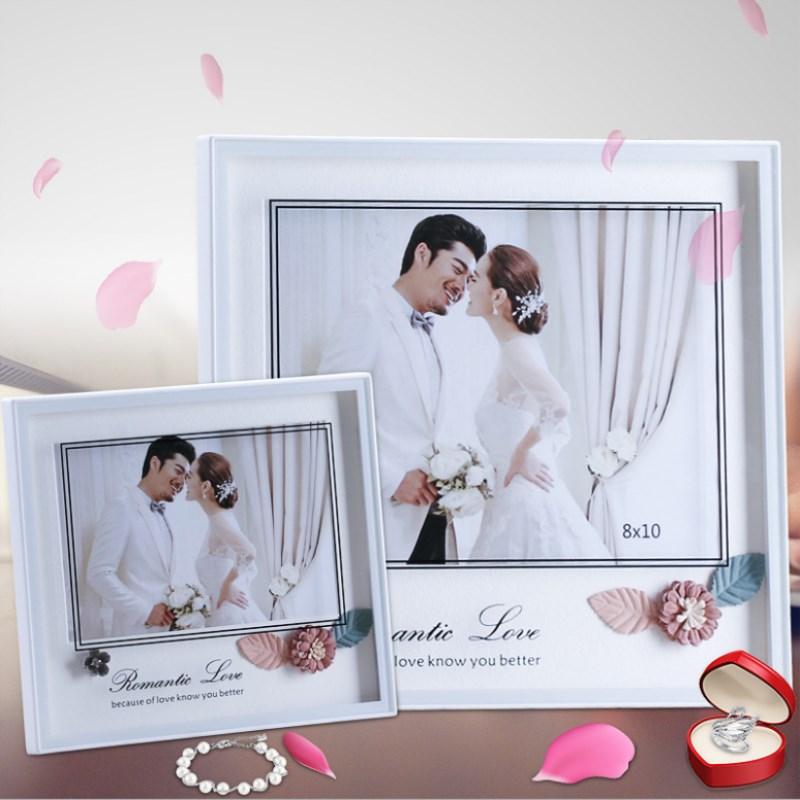 Creativo marco de foto de flores Set Taiwán Beauty House Series estudio dedicado marco de fotos blanco romántico marco de fotos 7 10 pulgadas