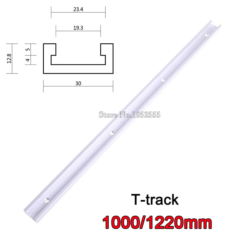 Lote de 4 unids/lote de 1000mm/1220mm t-tracks t-slot accesorio de ranura en T para Router banda para mesa de sierra t-tracks E867