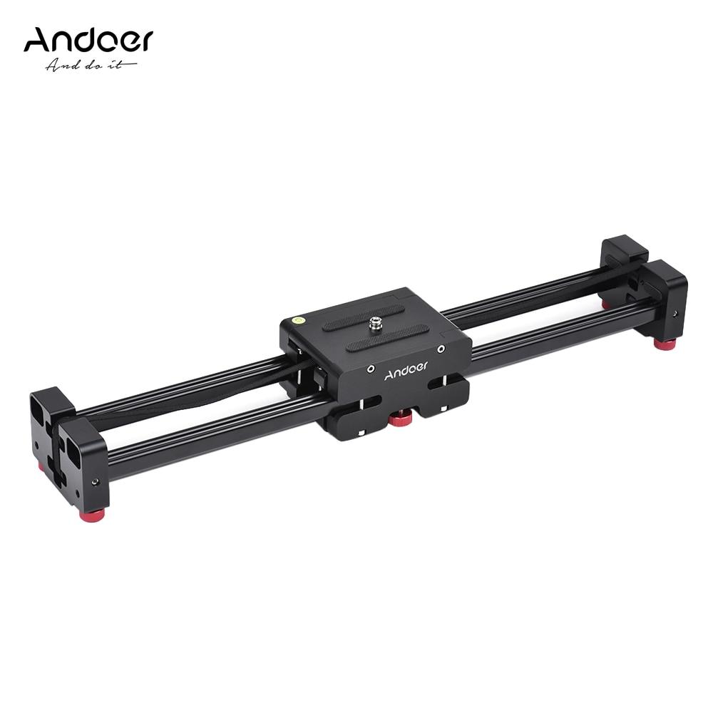 Deslizador retráctil para cámara de vídeo Andoer FT-40, estabilizador de carril de pista Dolly para videocámara Canon, Nikon, Sony DSLR 40cm/52cm de longitud