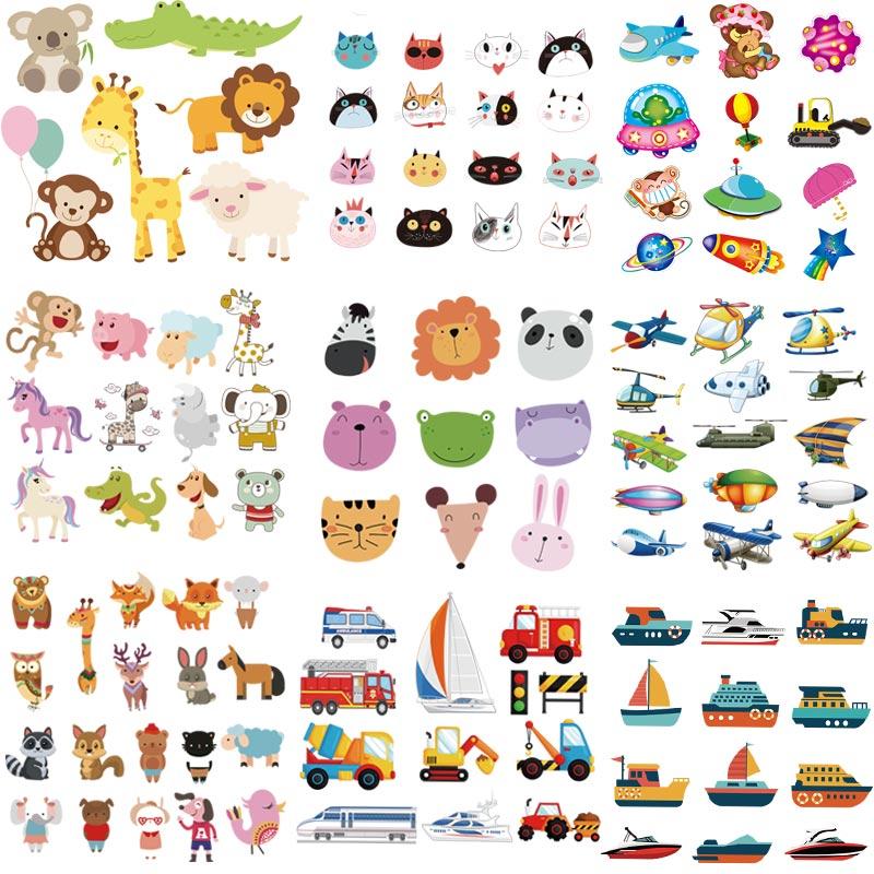 Оптовая продажа, аппликация для наклеек на одежду, милые животные, автомобили, наклейка с помощью утюга «сделай сам», Детская футболка, моющийся аксессуар, пластырь