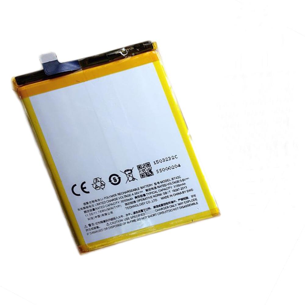 10pcs/lot Mobile battery ForMeizu M2 Note 3050mAh New Replacement BT42C Battery accumulators ForMeizu M2 Note Cell Phone