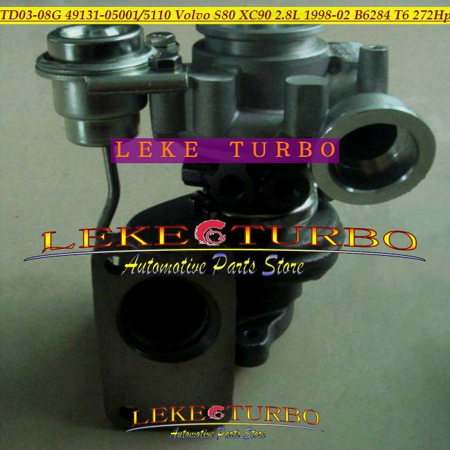 Turbo TD03 TD03-08G 49131-05001, 49131-05110, 49131, 05100, 49131, 05011, 8601454, 9471563 para Volvo S80 XC90 2.8L 1998-B6284 T6 272HP