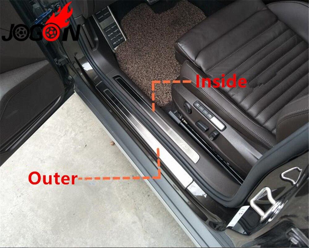 Accesorios 8 Uds puerta de acero inoxidable Placa de raspado para VW Passat B8 Variant Alltrack 2015-2018 DONT For Passat B8