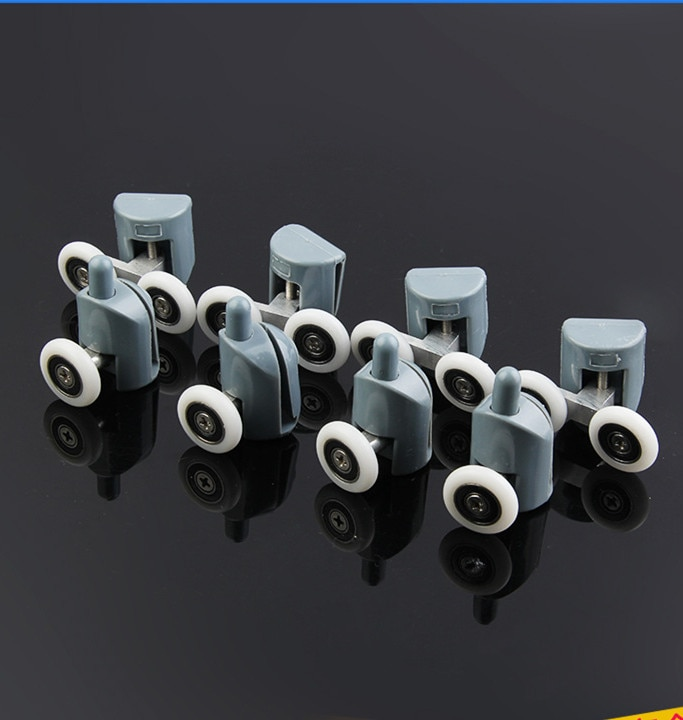 8* Shower Rooms Cabins Pulley &Shower Room Roller /Runners/Wheels/Pulleys Diameter 22MM (4double top +4 singel bottom )