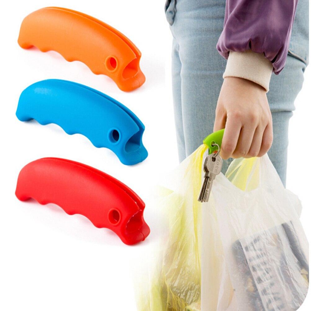 1 pedaço Bolsa De Transporte Lidar Com Ferramentas Botão de Silicone Descontraído Carry Saco de Lidar Com Compras Clips Manipulador Ferramentas Da Cozinha