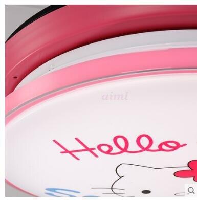 Modern children's room blue pink cartoon fan lights, Adjustable 4 kinds of color  - buy with discount
