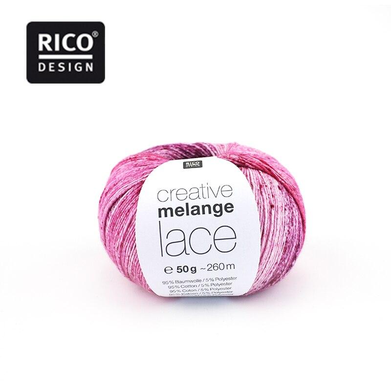 1*50g bola Rico creativo de encaje de mezcla de algodón hilado hecho a mano