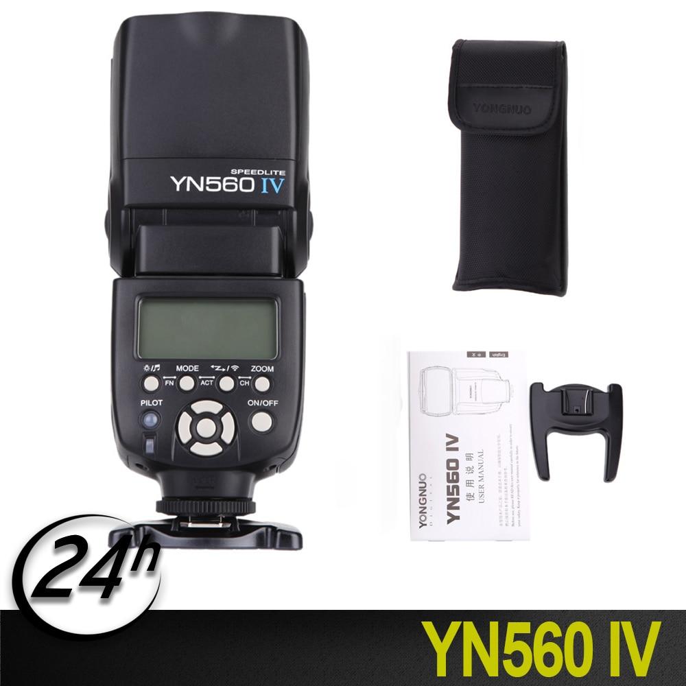 Original YONGNUO YN560 IV 2,4 GHZ flash inalámbrico speedlite transceptor integrado para Canon Nikon Panasonic Cámara Pentax