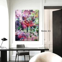 large size handpainted oil painting canvas modren abstract knife oil painting landscape wall art living room home decor picture
