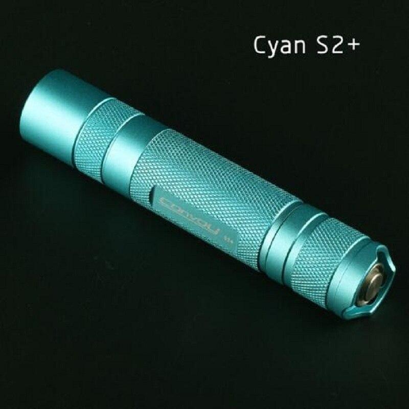 Linterna LED de U2-1A EDC Cree XML2 Cyan S2 + Cyan, linterna, autodefensa, luz de camping, lámpara, para bicicleta,