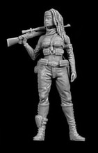 Unlackiert Kit 1/35 Moderne Stalker frau figur Historische Figur Harz Kit