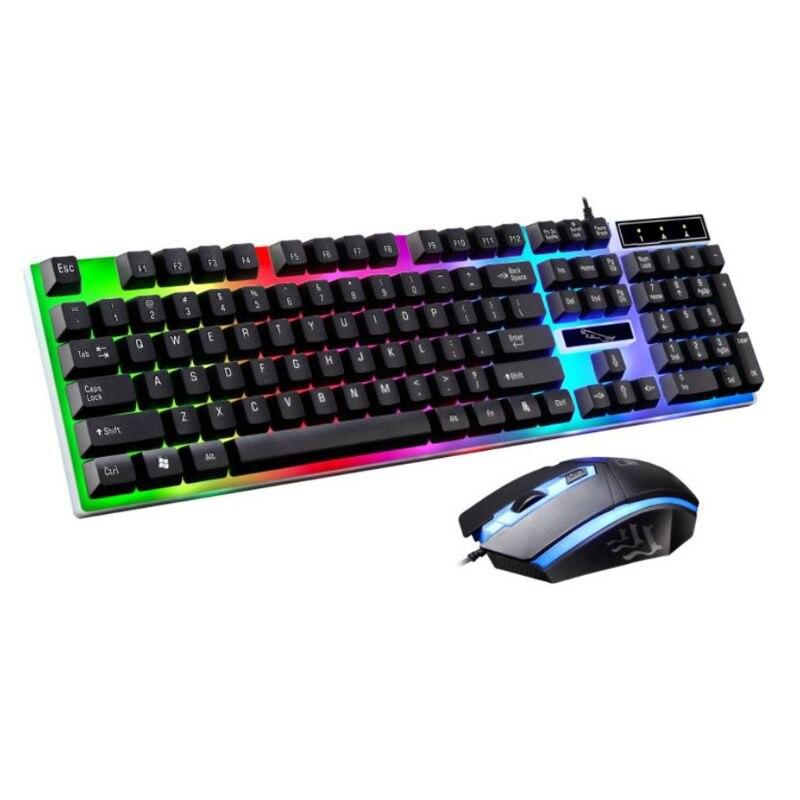 Эргономичная игровая клавиатура и 3D мышь, комплект, нескользящий, Радужный светодиодный комплект оборудования для PS4 Xbox One