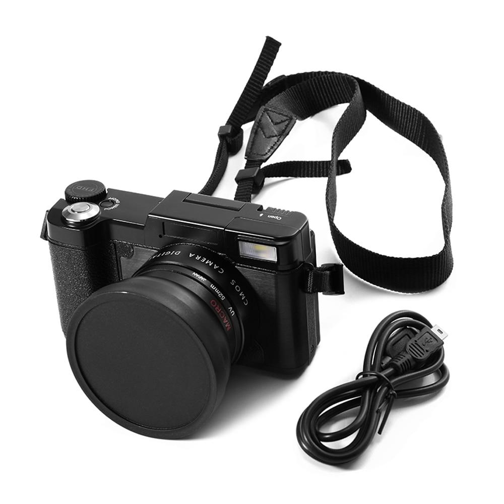 Профессиональный 24MP HD половина-однообъективного цифрового зеркального Камера 4x зум w/широкий угол макросъемки объектив 1080 P Цифровая видео...