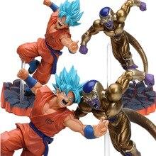 Or Orange 14cm Super Saiyan Goku Son Freeza congélateur forme ultime PVC figurine Dragon Ball Z Anime Combat édition jouets