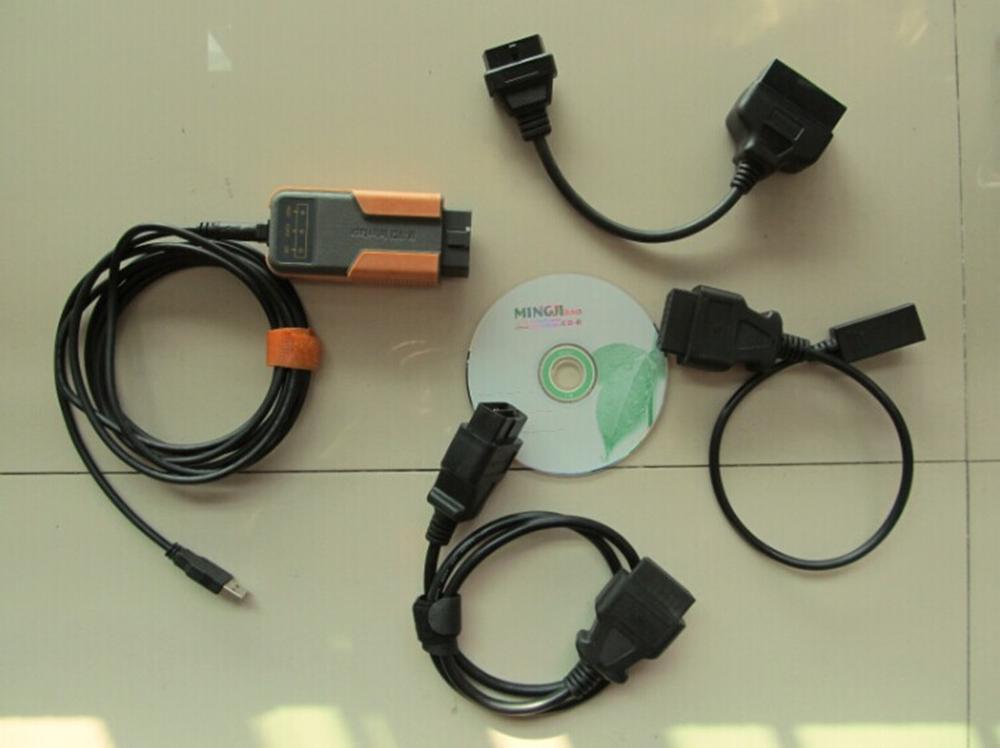 Herramienta de diagnóstico xhorse mvci para toyota mvci para honda hds para volvo 3 en 1, interfaz usb, software para todos los cables, V10.10.028